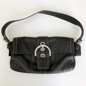 Coach Vintage Shoulder Purse Black Silver Hardware